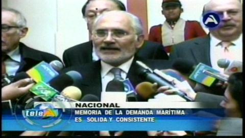 Bolivia mantiene solidez y no cree que impugnación de Chile prospere