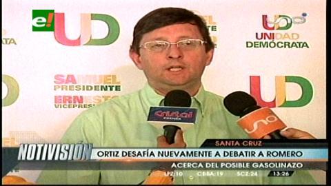 Óscar Ortiz reta a Carlos Romero a debatir el gasolinazo