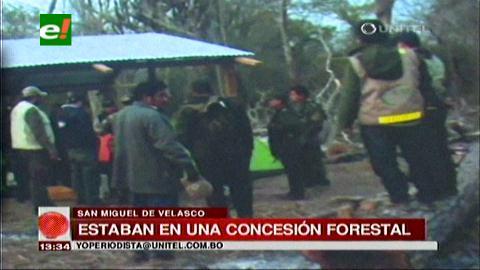 San Miguel de Velasco: Desalojan a más de 200 familias de una concesión forestal