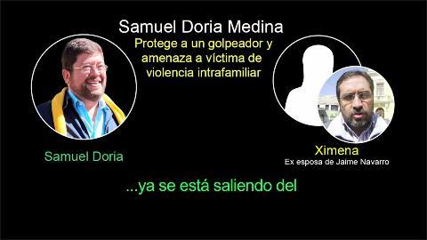 Revelan audio donde Doria Medina amenaza a esposa de Navarro por una demanda de violencia familiar