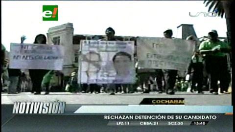 Cochabamba: Marchan en apoyo a Mario Orellana