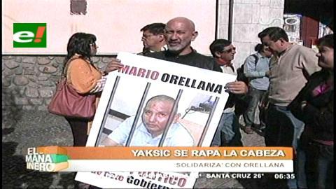 Video: Yaksic se rapa la cabeza en apoyo a Orellana