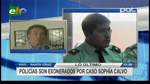 Policías son exonerados por el caso Sophia Calvo
