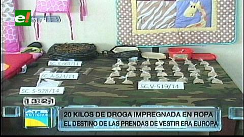 Barrio Los Chacos: Alistaban ropa de bebé con cocaína