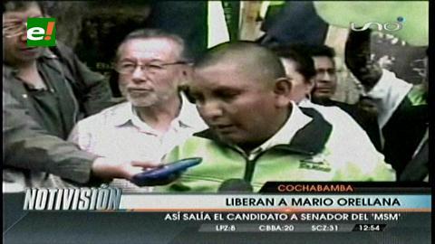 Mario Orellana deja la cárcel después de haber estado recluido ocho días