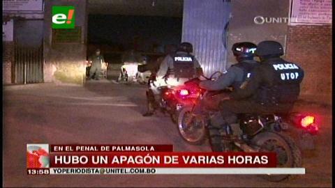 Palmasola: Apagón de luz movilizó a un centenar de policías