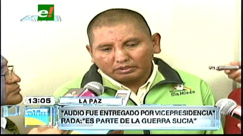 Orellana dice que gente del Vice García Linera le entregó audio de Evo