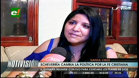 Jessica Echeverría cambia la política por la fe cristiana