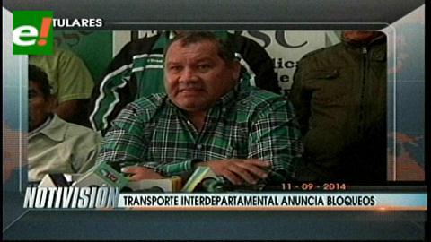 Titulares: Transporte interdepartamental anuncia bloqueos, exigen la refacción de las carreteras