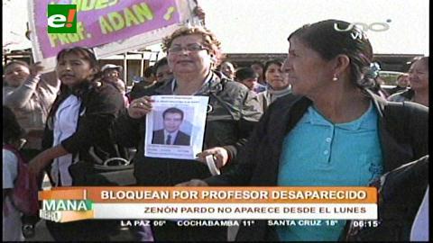 Alumnos bloquean por profesor desaparecido en el Plan Tres Mil