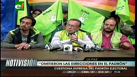 MSM denuncia que el Padrón Electoral está incompleto