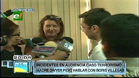 Villegas pidió perdón a la madre de Dwyer por haber sido parte del gobierno que mató a su hijo
