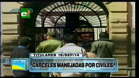 Titulares: Presidente de la Cámara Baja sugiere pasar la administración de las cárceles a civiles