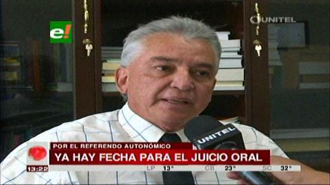 Referéndum Autonómico: Juicio oral iniciará el 10 de noviembre