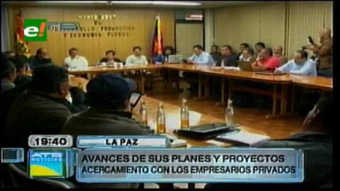 Gobierno reconoce que junto al empresariado trabajan políticas económicas para el país