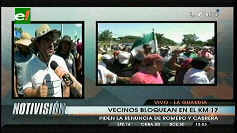 En La Guardia bloquean pidiendo la renuncia de Romero y de Cabrera