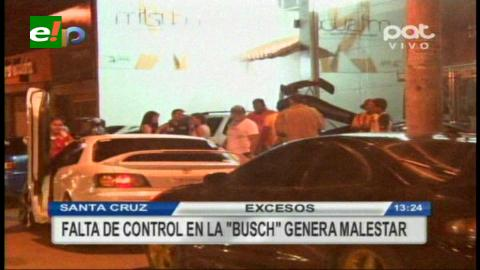 Continúa el escándalo y el descontrol en la Av. Busch