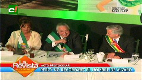 """Percy se olvidó el nombre del Vicepresidente y lo llama """"Carlos"""""""