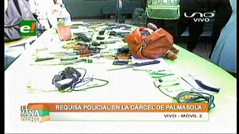 Requisa: Armas blancas, cocaína y marihuana al interior de Palmasola