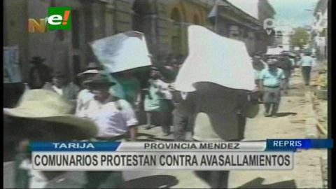 "Tarija: Campesinos de provincia Méndez amenazan con ""voto castigo"" a Evo"
