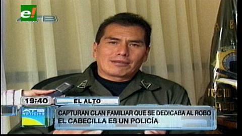El Alto: Felcc captura clan familiar dedicada al robo, el cabecilla es un policía