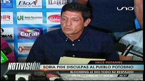 Mauricio Soria pidió disculpas al pueblo potosino