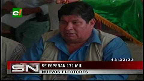 Santa Cruz: Sereci espera inscribir 171 mil nuevos electores