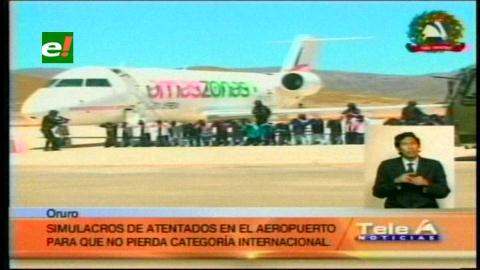 Realizaron simulacro de accidente en el aeropuerto de Oruro