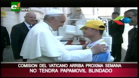En su visita a Bolivia, Francisco no tendrá un papamóvil blindado