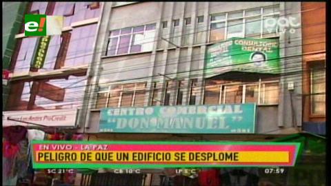 La Paz: Rajadura en un edificio obliga a la evacuación de la gente