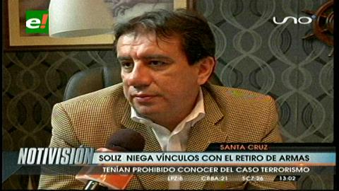 Jaime Soliz niega vínculos con el retiro de armas de la Octava División