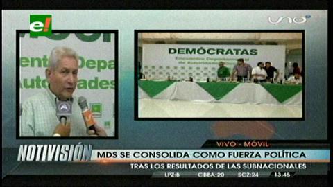 Rubén Costas: «El Movimiento Demócrata se convirtió en la primera fuerza política de Santa Cruz»