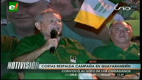 Cierre de campaña: Rubén Costas respaldó a Carlos Dellien en Guayaramerín