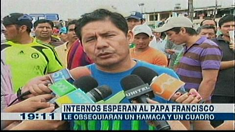 Hay entusiasmo en el penal de Palmasola, los reos quieren que el papa Francisco sea su vocero