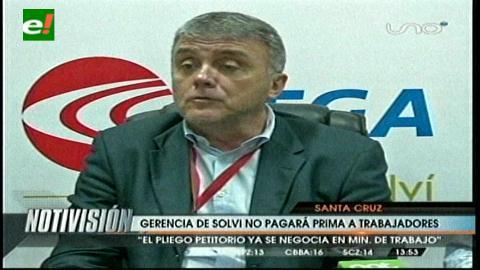 Vega Solvi no pagará la prima a sus trabajadores