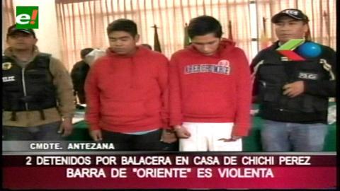 Dos integrantes de la barra brava de Oriente dispararon en la casa de «Chichi» Pérez