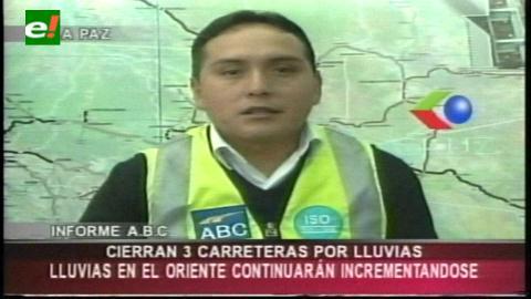 Beni, Chuquisaca y Santa Cruz con vías cortadas