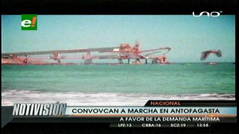 Convocan a marcha para apoyar demanda marítima boliviana en Antofagasta