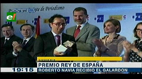 Boliviano Roberto Navía Gabriel recibió Premio Rey de España