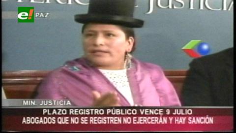 Abogados que no se registren en el Ministerio de Justicia serán sancionados