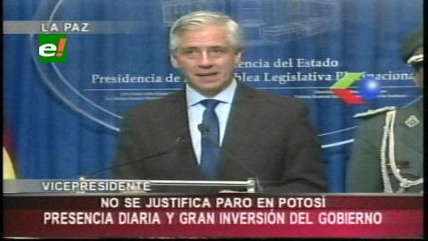 García Linera critica paro convocado en Potosí y pide acompañar industrialización del litio