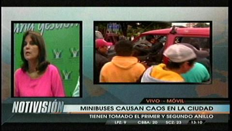 Comuna cruceña califica de ilegal la protesta de minibuses