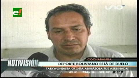 Ministerio de Deportes lamenta muerte de taekwondista Gloria Adriázola