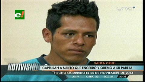 Policía presenta a sujeto que encerró y quemó a su pareja