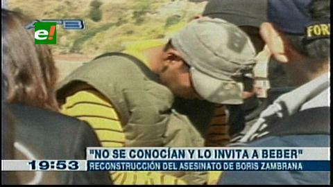 La Paz: En reconstrucción revelan que víctima del 'descuartizador' trató de defenderse