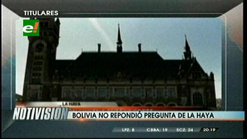"""Titulares de TV: Bolivia no respondió a la pregunta sobre la """"soberanía"""" en La Haya"""