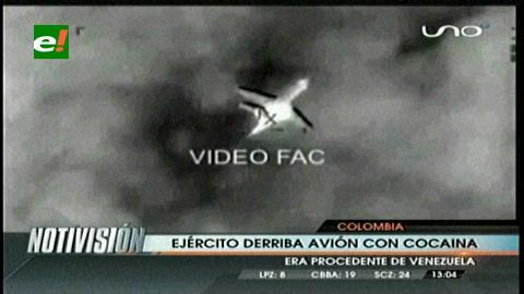 Colombia: Derriban avión procedente de Venezuela cargado de cocaína