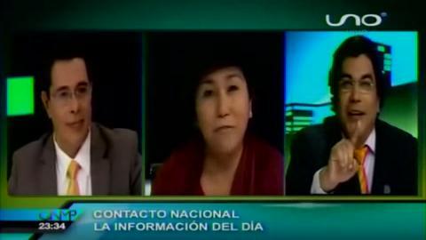 Enrique Salazar y Paco en una acalorada discusión en Tv