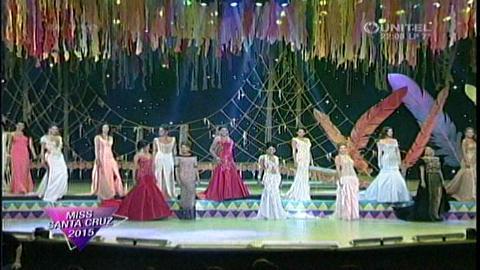 Miss Santa Cruz 2015: Candidatas en traje de gala