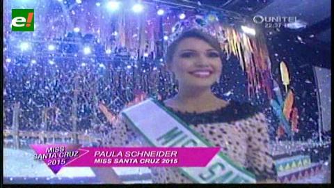Paula Schneider es la Miss Santa Cruz 2015